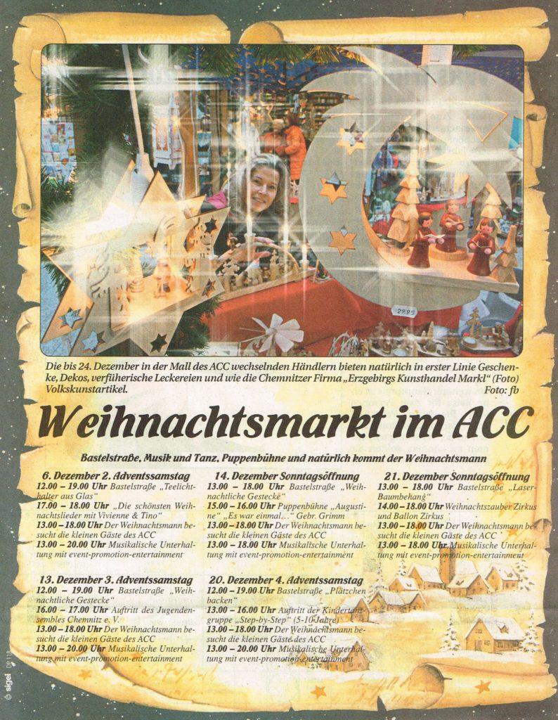 EKM Chemnitz Weihnachtsmarkt - Wochenspiegel