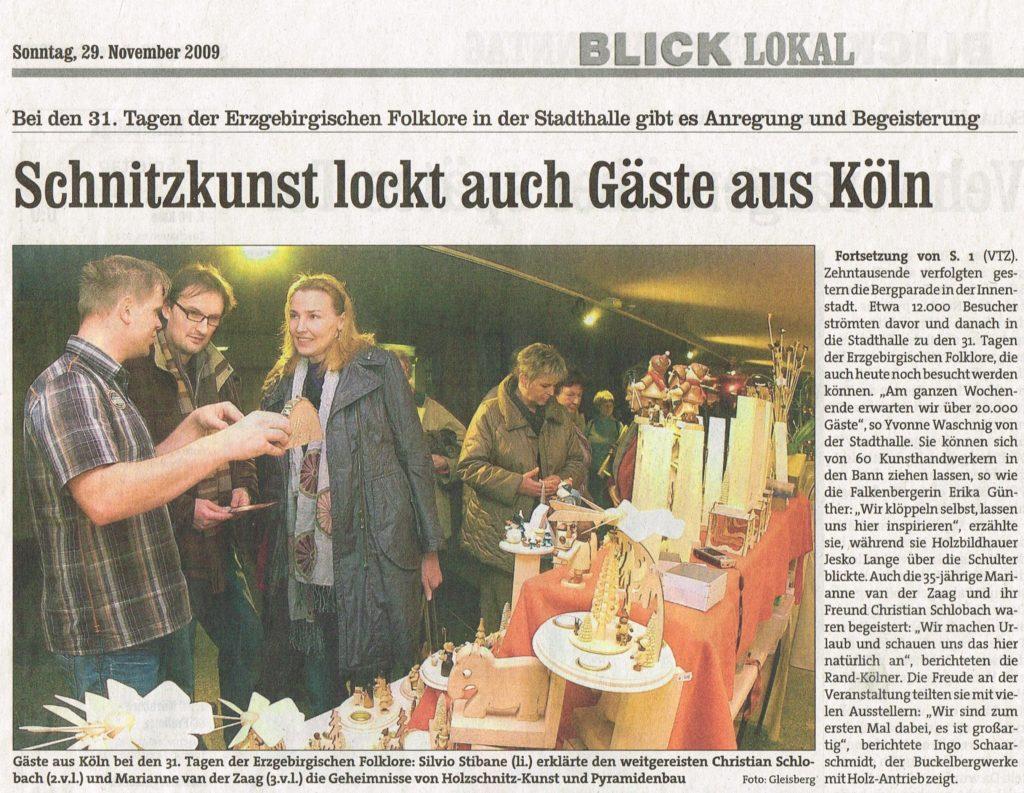 EKM Holzkunst lockt u. a. Gäste aus Köln an - Blick Chemnitz