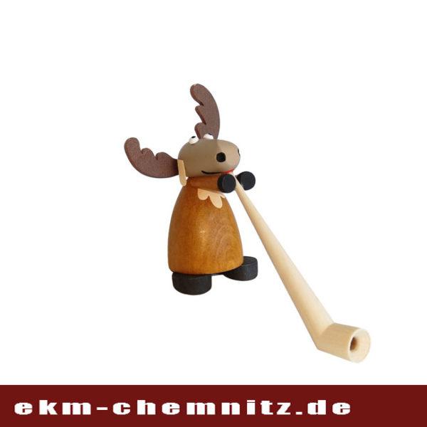 Musik in unseren Ohren. Die Sammlerfigur Elch Almdudler, ergänzt die lustige Elchgruppe.