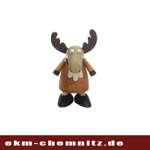 Die Drechselfigur Elch stehend ist ideal als Sammelfigur und eine tolle dekorative Ergänzung zur ihrem Weihnachtsschmuck.