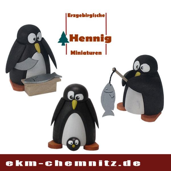 Die gedrechselten Pinguine der Firma H. Hennig, sind lustig anzuschauen. Witzige Sammelfiguren mit den unterschiedlichsten Motiven.