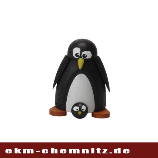 Der Pinguin mit Baby um die Pinguinfamilie komplett zu machen. Eine wundervolle Drechselfigur zum Sammeln und Dekorieren.