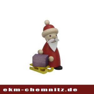 Um die vielen Geschenke zu transportieren nutzt der Weihnachtsmanngerne einen Schlitten. Hier als Drechselfigur wundervoll dargestellt. Ideal als Sammelfigurund zum verschenken.
