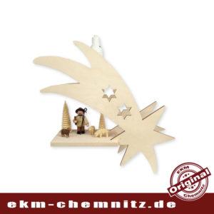 Das Fensterbild Schweif Hirte mit Schafen gehört ins Erzgebirge. Die Sammlerfigur von Romy Thiel und die Reifentiere angeschnitzt, schmücken in der Adventszeit ihr Fenster. Inkl. Leuchtmittel 15W E14