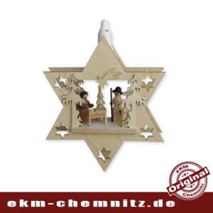Das Motiv Christi Geburt ist hier im Fensterbild Stern zu sehen. Die traditionelle Weihnachtsgeschichte, perfekt für die Fensterdekoration in der Adventszeit.