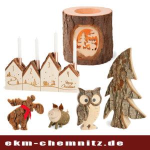 Rustikale Deko aus Holz