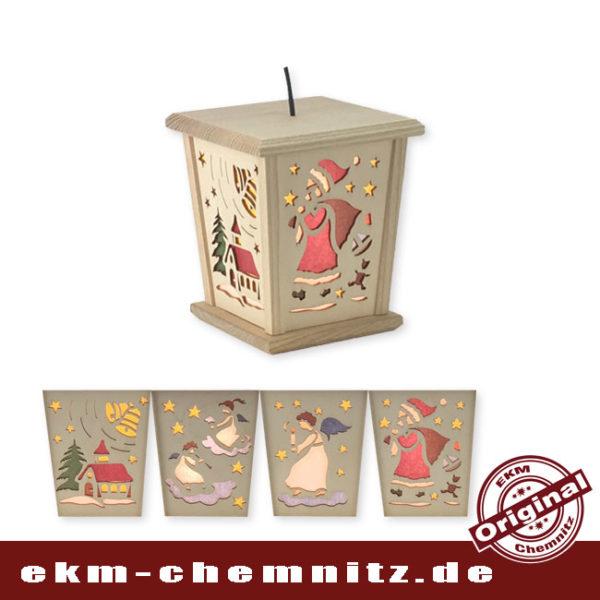 Die LED Laterne hat 4 Seiten mit verschiedenen Bildern. Das Modell Weihnachtsmotiv leuchtet besonders gern in den Kinderzimmern. Ein Verteilerkabel ist inkl., somit können mehrere Laternen in Reihe betrieben werden.