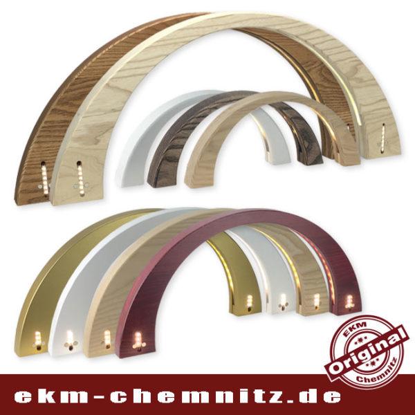 Unsere moderner Lichterbogen im symetrischen und schlichtem Design passt in alle Einrichtungsvarianten. Es gibt sie in 3 verschiedenen Größen: 34cm, 50cm und 70cm.