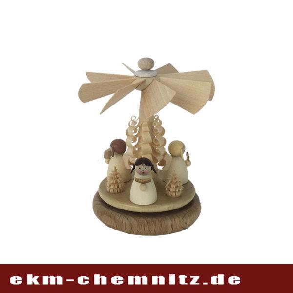 Zu den Miniaturen gehört das Wärmespiel Drei Engel auf Erden