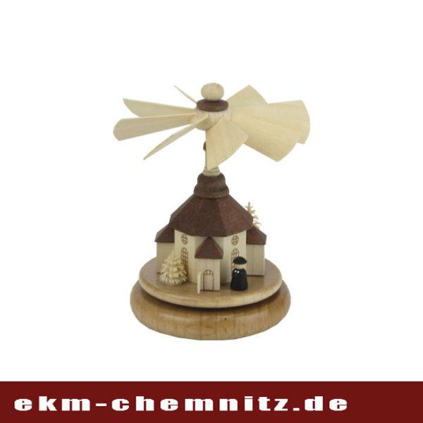 Zur Gruppe der Miniaturen zählt das Wärmespiel Seiffener Kirche