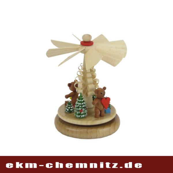 Auf den Platz der Miniaturen kommt das Wärmespiel Teddy-Wintermotiv