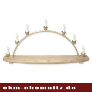 Ein traditioneller Schwibbogen mit 7 Kerzen, zum selber bestücken. Sie können Ihre Figuren ganz nach Ihren Vorstellungen in Szene setzen. Mit einer Breite von 70cm ist genügend Platz für Ihre Weihnachtsdekoration.