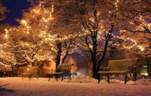 Weihnachtsbräuche Weihnachten in andern Ländern Bank Licht
